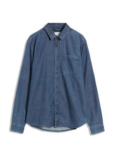 Armedangels Langarmhemd »TIAANS Herren Hemd aus Bio-Baumwolle Relaxed Fit« (1-tlg)