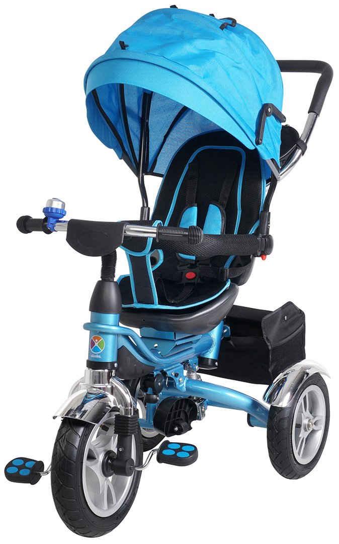 miweba Kinder-Buggy »Kinderdreirad 7 in 1 Schieber Kinderwagen«, Faltbar - 360° Drehbar - Luftreifen - Heckfederung - ab 1 Jahr