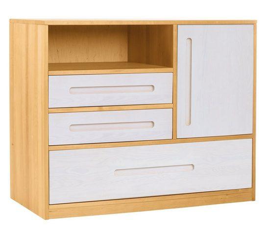 BioKinder - Das gesunde Kinderzimmer Kommode »Lina«, mit 3 Schubladen und 1 Tür