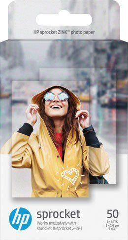 HP Fotopapier »ZINK® Sticky-Backed 50 Bl.«