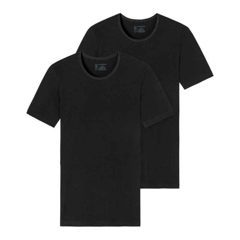 Schiesser Unterhemd »2er-Pack - 95/5 - Organic Cotton« (2 Stück), T-Shirt / Unterhemd mit V-Ausschnitt - Komfortabler Rundhalsausschnitt, Perfekter Sitz, Elastische Single-Jersey Qualität