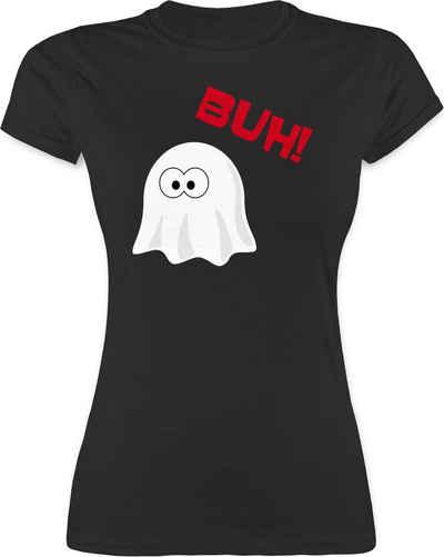 Shirtracer T-Shirt »Kleiner Geist Buh süß - Halloween Kostüm Outfit - Damen Premium T-Shirt« Helloween