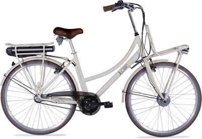 LLobe E-Bike »Rosendaal Lady 15,6 Ah«, 3 Gang, Nabenschaltung, Frontmotor 250 W, Gepäckträger vorne