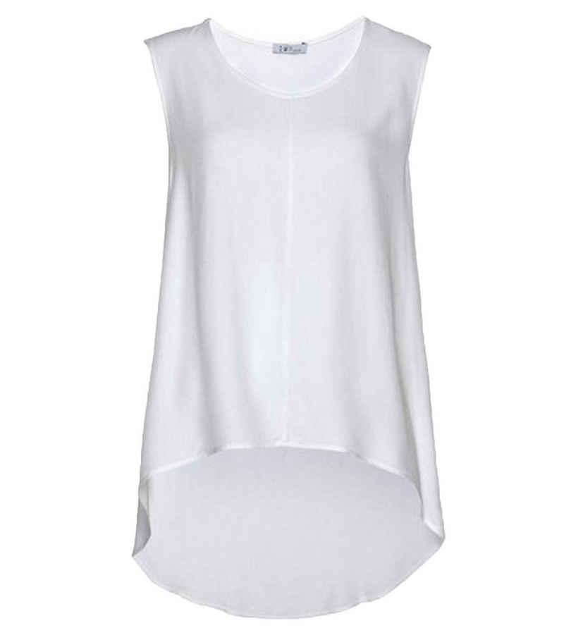 IMPERIAL Klassische Bluse »IMPERIAL Blusentop luftig leichtes Damen Shirt im Vokuhila Style Sommer-Top Weiß«