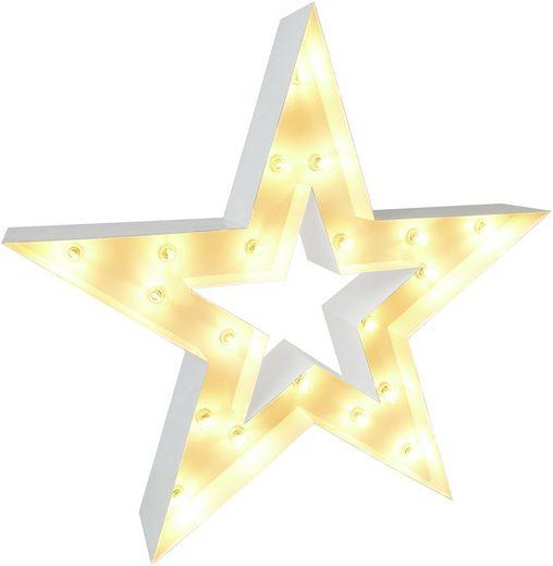 MARQUEE LIGHTS LED Dekolicht »Stern«, Wandlampe, Bodenlampe ohne Leuchtmittel, Star