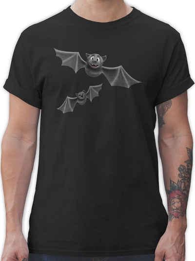 Shirtracer T-Shirt »süße Fledermäuse - Halloween Kostüm Outfit - Herren Premium T-Shirt« Helloween