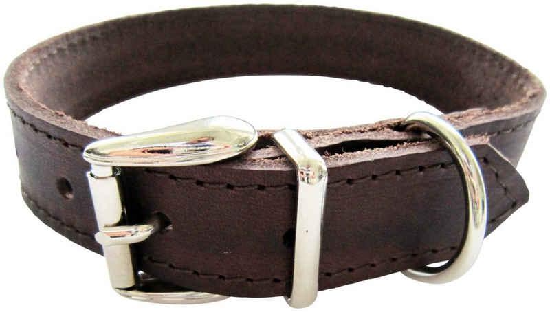 HEIM Hunde-Halsband, Echtleder, Länge: 45 cm
