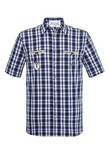 OS-Trachten Trachtenhemd im modischem Karodesign