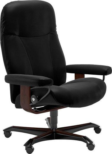 Stressless® Relaxsessel »Garda«, mit Home Office Base, Größe M, Gestell Braun