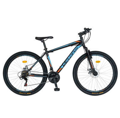 Velors Mountainbike »27 Zoll Hardtail Mountainbike Herren-Fahrrad MTB«, 21 Gang Shimano Tourney Schaltwerk, Kettenschaltung, (Scheibenbremsen, mit Stahl-Rahmen), Shimano Schaltung Trekkingrad Fitnessbike