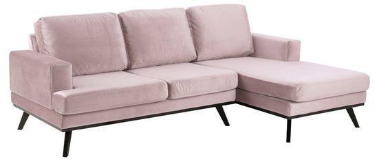 ebuy24 Sofa »Nord Sofa 2 Sitzer, Ottomane rechts rosa.«
