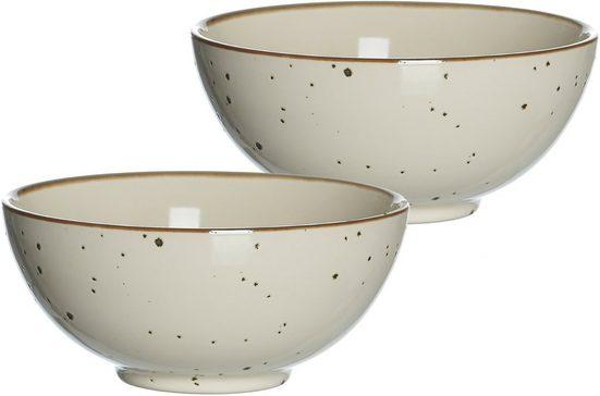 Ritzenhoff & Breker Schale »Xico«, Steinzeug, (Set, 2-tlg), Buddha-Bowls, Ø 17,5 cm
