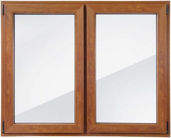 RORO Kunststoff-Fenster »Classic 420«, BxH: 150x120 cm, eichefarben-dunkel, zweiflügelig