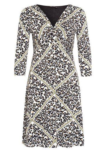 MARC AUREL Jerseykleid mit Leoparden-Druck samt Kette
