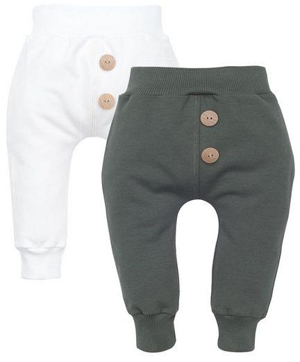 Makoma Sweathose »Baby Sweathose Hose für Mädchen mit Breitem Bund -Rose-« (Set, 2er-Pack) 100% Baumwolle