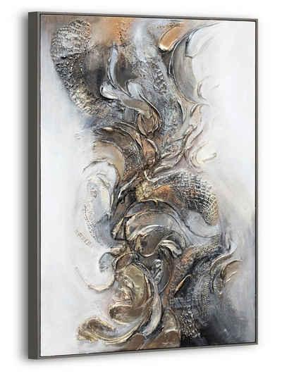 """YS-Art Gemälde »Handgemaltes Acryl Gemälde auf Leinwand """"Melodie"""" 120 × 80cm«"""