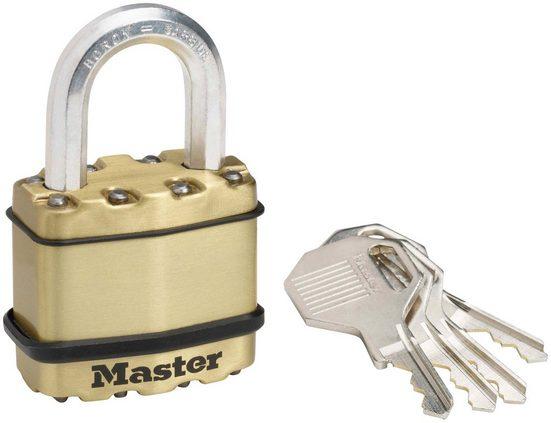 Master Lock Vorhängeschloss »Excell«, Sicherheitsklasse 9, Messing