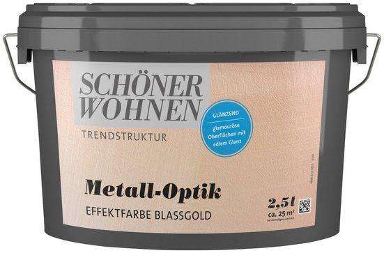 SCHÖNER WOHNEN-Kollektion Wandfarbe »Metall-Optik Effektfarbe blassgold«, glänzend, 2,5 l