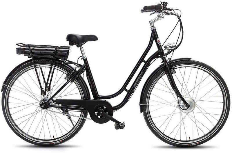 ALLEGRO E-Bike »Boulevard Plus 03 Black«, 7 Gang Shimano Nexus Schaltwerk, Nabenschaltung, Frontmotor 250 W