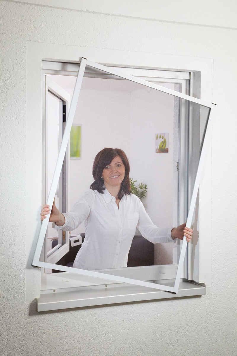 hecht international Insektenschutz-Fenster »MASTER SLIM«, weiß/anthrazit, BxH: 130x150 cm