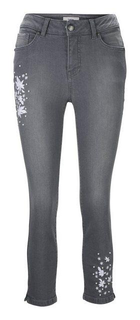 LINEA TESINI by Heine Skinny-fit-Jeans mit Stickerei   Bekleidung > Jeans > Sonstige Jeans   LINEA TESINI by Heine