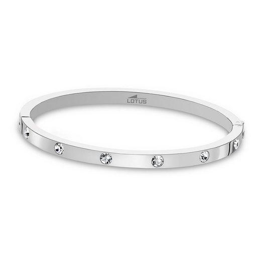 Lotus Style Armreif »JLS1846-2-1 Lotus Style Armband Armreif silber« (Armreifen), für Damen aus Edelstahl (Stainless Steel)