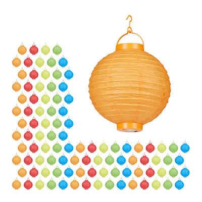 relaxdays LED Lampion »100 x LED Lampions bunt«