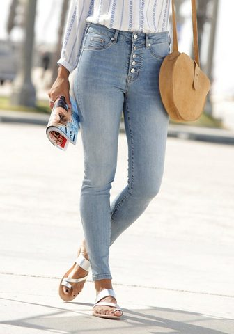 Buffalo High-waist-Jeans su stilingas Knopflei...