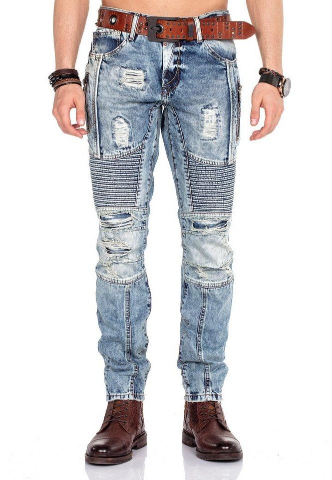 cipo & baxx -  Straight-Jeans im Straight Fit-Schnitt