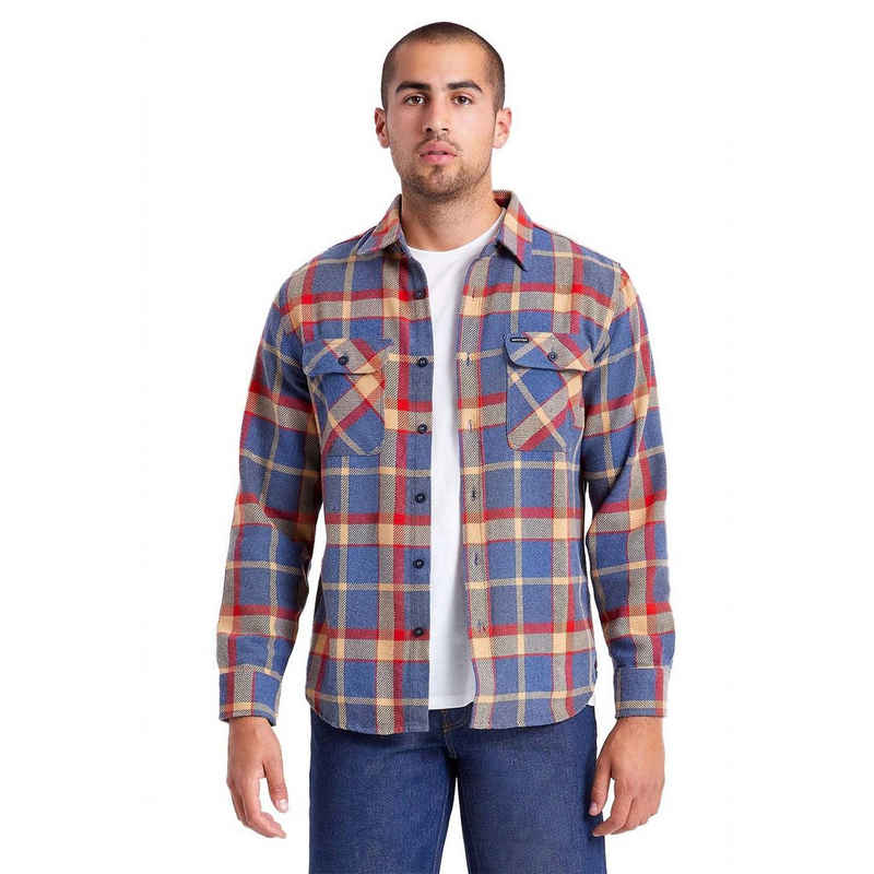 Brixton Langarmhemd »Bowery L/S Flannel - blue/red«