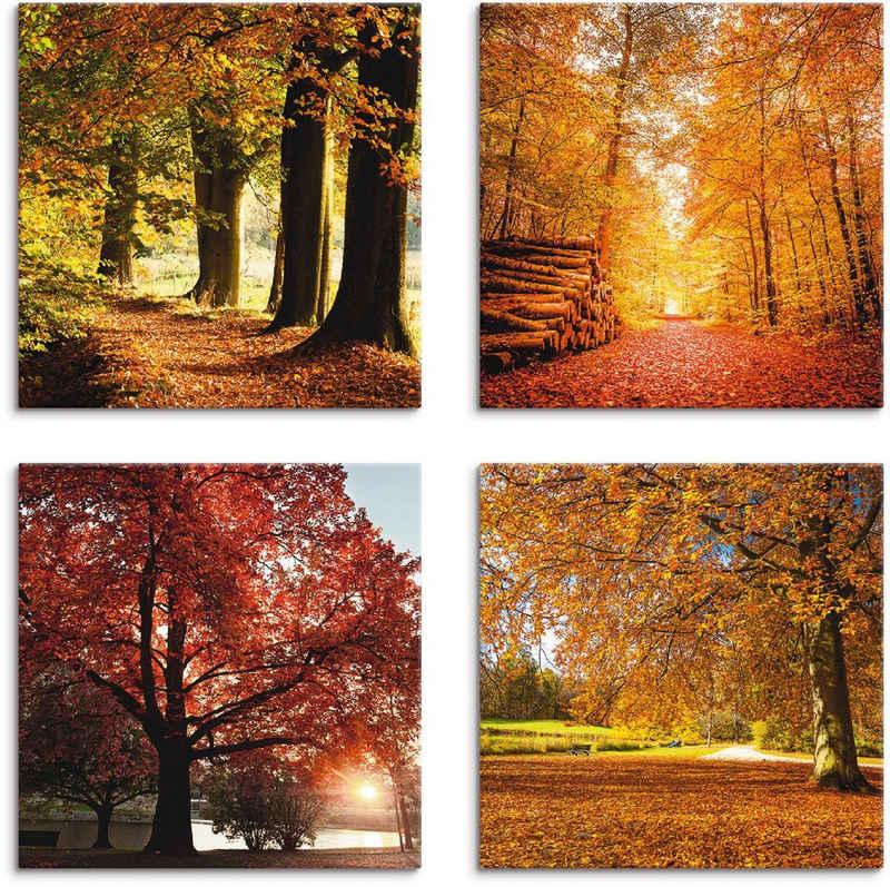 Artland Leinwandbild »Herbstlandschaft«, Bäume (4 Stück)