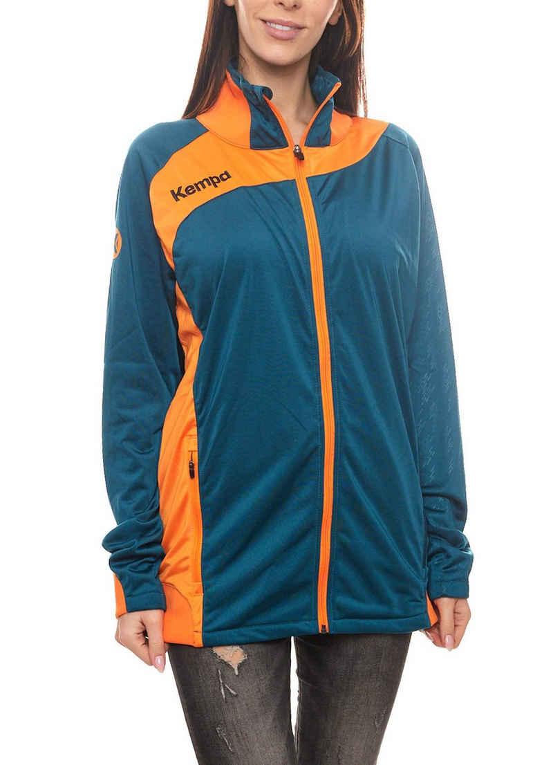 Kempa Trainingsjacke »Kempa Peak Trainings-Jacke schöne Damen Sport-Jacke Outdoor-Jacke mit Grafikprägung Orange/Petrol«