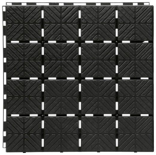 PROSPERPLAST Bodenplatte »Easy square S411«, BxTxH: 40x40x2 cm