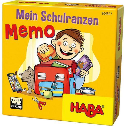 Haba Spiel, »Mein Schulranzen-Memo«