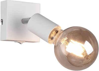 TRIO Leuchten Wandstrahler »VANNES, Wandspot mit Schalter, 1-flammig«, E27-Leuchtmittel frei wählbar, dreh- und schwenkbar