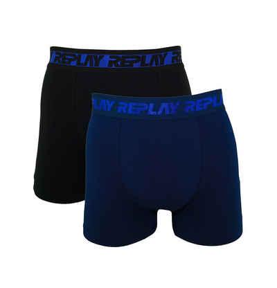Replay Boxershorts »Metallic Cuff« (2 Stück) in Box