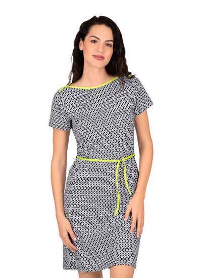 Trigema Shirtkleid mit Retro-Muster