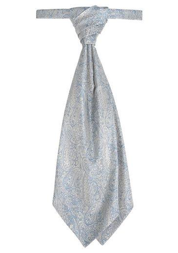Wilvorst Krawatte »Plastron inklusive Einstecktuch« (Set, 2-St., mit Einstecktuch) Hochzeitsmode, Paisley Muster