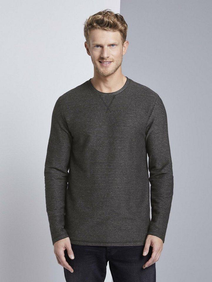 tom tailor -  Langarmshirt »gestreiftes Langarmshirt«
