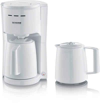Severin Filterkaffeemaschine KA 9256, 1l Kaffeekanne, 1x4, mit 2 Thermokannen