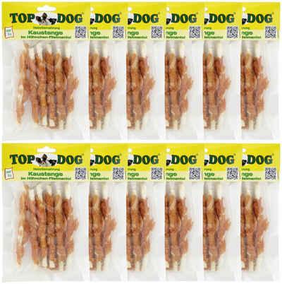 TOP DOG Hundesnack »Kaustange im Hühnchen-Filetmantel«, 12x 70g