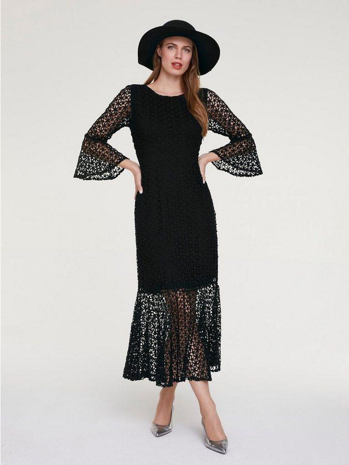 Festtagsmode - ASHLEY BROOKE by Heine Spitzenkleid »Spitzen Kleid« › schwarz  - Onlineshop OTTO