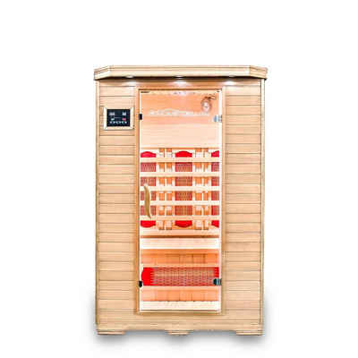 HOME DELUXE Infrarotkabine »Redsun M mit Vollspektrumstrahler«, Holz: Hemlocktanne - Maße: 120 x 105 x 190 cm, Infrarotsauna für 2 Personen, Infrarot, Kabine Besuchen Sie den Home Deluxe-Store