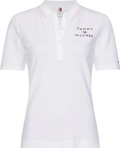 TOMMY HILFIGER Poloshirt »ALISON REGULAR POLO« mit Tommy Hilfiger Logo-Schriftzug auf der Brust