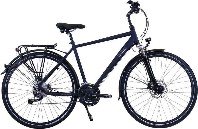 HAWK Bikes Trekkingrad »HAWK Trekking Gent Deluxe Ocean Blue«, 27 Gang Shimano Alivio Schaltwerk