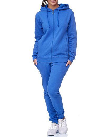 Code47 Jogginganzug »Uni Colour Damen Jogging Anzug Jacke Sport Hose« (Sportanzug Trainingsanzug Fitnessanzug, 2-tlg., Sportswear TrackSuit Sweat)