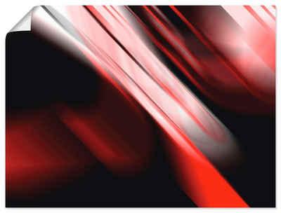 Artland Wandbild »Design Rot«, Gegenstandslos (1 Stück), in vielen Größen & Produktarten - Alubild / Outdoorbild für den Außenbereich, Leinwandbild, Poster, Wandaufkleber / Wandtattoo auch für Badezimmer geeignet