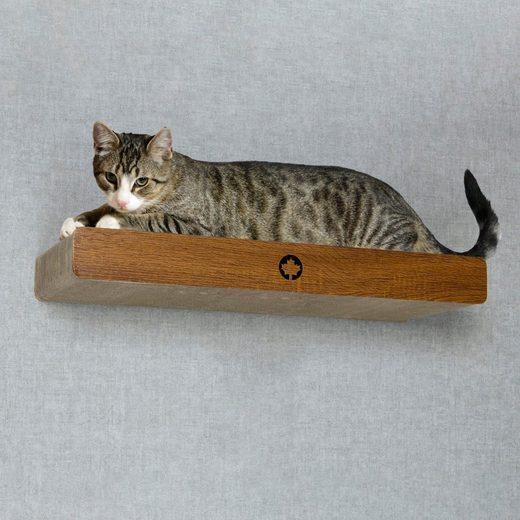 Canadian Cat Company Kratzpappe »Cloud - walnuss«, (Kratzbrett mit verdeckter Wandbefestigung, inkl. Befestigungsmaterial), Ersatzkratzpappen erhältlich