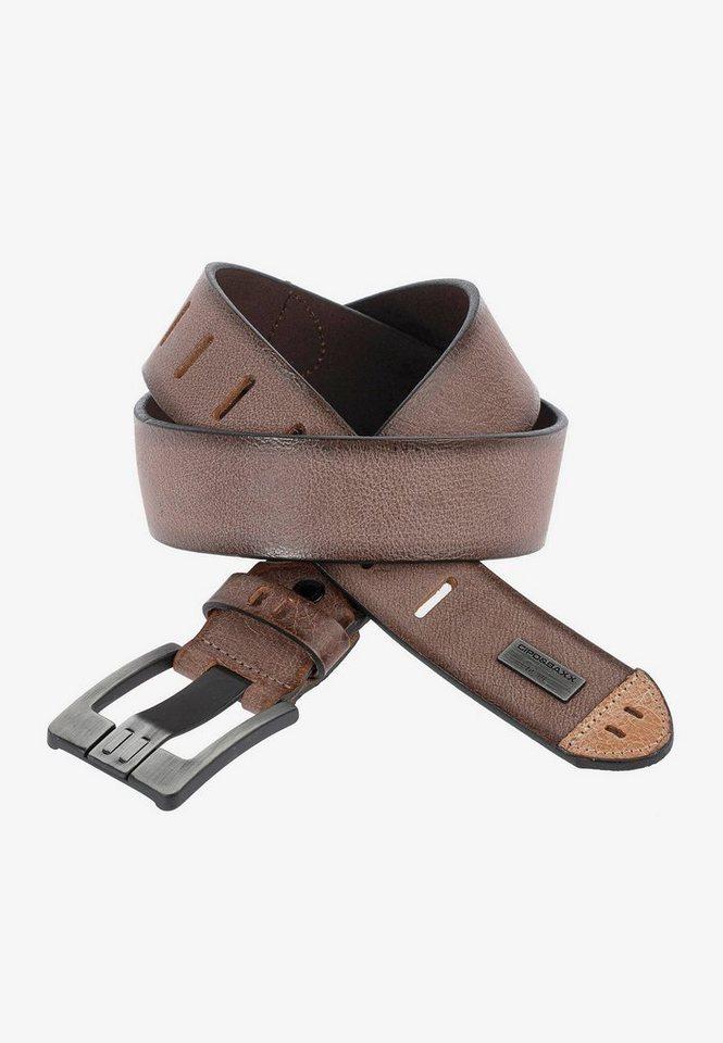 cipo & baxx -  Ledergürtel im futuristischen Design