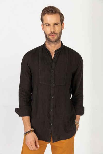GABANO Leinenhemd »Stehkragenhemd in 100% Leinen« luftig, leicht, kühlend